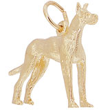 Gold Plated Great Dane Dog Charm by Rembrandt Charms