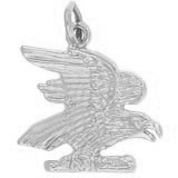 14K White Gold American Bald Eagle Charm by Rembrandt Charms