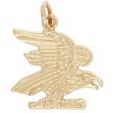 14k Gold American Bald Eagle Charm by Rembrandt Charms