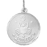 14K White Gold Cancer Constellation Charm by Rembrandt Charms