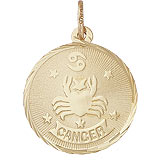 10K Gold Cancer Constellation Charm by Rembrandt Charms