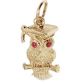 Gold Plated Graduation Owl Charm by Rembrandt Charms
