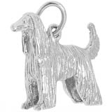 Sterling Silver Afghan Dog Charm by Rembrandt Charms