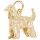 Gold Afghan Dog Charms