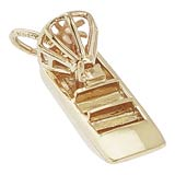 10K Gold Air Boat Charm by Rembrandt Charms