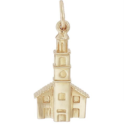 14K Gold St John's Church Charm by Rembrandt Charms