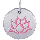 14K White Gold Lotus Flower Charm by Rembrandt Charms