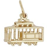 14K Gold Cable Car Charm by Rembrandt Charms