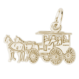 10K Gold Flat Horse and Carriage Charm by Rembrandt Charms