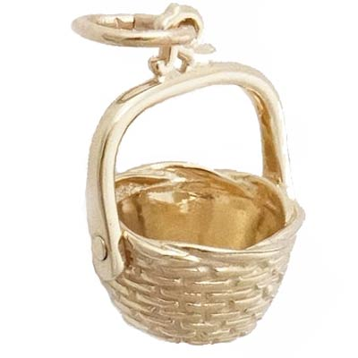 14k Gold Nantucket Basket Charm by Rembrandt Charms