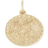 Gold Plated Mother We Love You by Rembrandt Charms