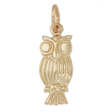 10K Gold Screech Owl Charm by Rembrandt Charms
