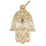 10K Gold Hamsa Charm by Rembrandt Charms