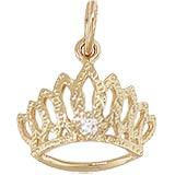 10K Gold April Birthstone Tiara Charm by Rembrandt Charms