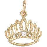 Gold Plate April Birthstone Tiara Charm by Rembrandt Charms