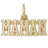 10K Gold Maman, Mom Charm by Rembrandt Charms