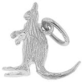 14K White Gold Kangaroo Charm by Rembrandt Charms