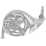 14K White Gold French Horn Charm by Rembrandt Charms