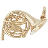 14K Gold French Horn Charm by Rembrandt Charms