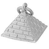 14K White Gold Pyramid Charm by Rembrandt Charms
