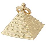 Gold Plated Pyramid Charm by Rembrandt Charms