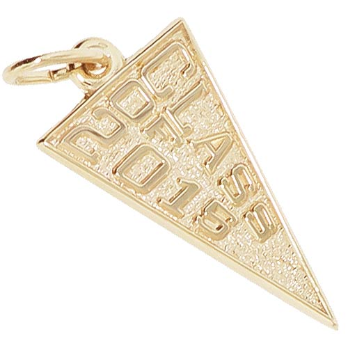 14k Gold Class of 2015 Charm by Rembrandt Charms