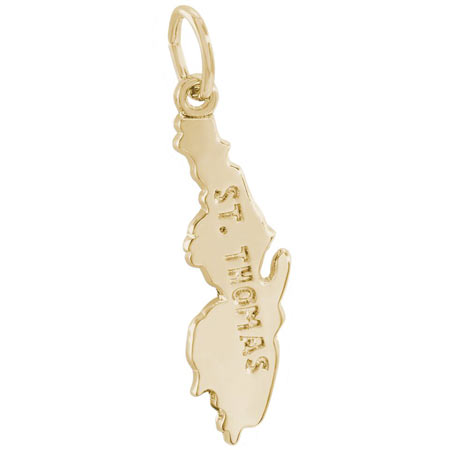 14K Gold St Thomas Charm by Rembrandt Charms