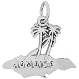 Sterling Silver Jamaica Island Palms Charm by Rembrandt Charms