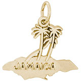 Gold Plate Jamaica Island Palms Charm by Rembrandt Charms