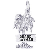 Sterling Silver Grand Cayman Palm Tree Charm by Rembrandt Charms