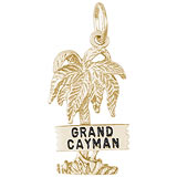 Gold Plate Grand Cayman Palm Tree Charm by Rembrandt Charms
