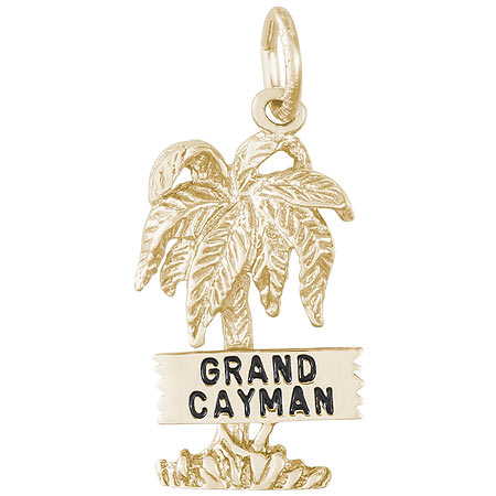 14K Gold Grand Cayman Palm Tree Charm by Rembrandt Charms