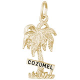 14K Gold Cozumel Palm Tree Charm by Rembrandt Charms