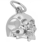 Sterling Silver Skull Charm by Rembrandt Charms