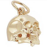 Gold Plate Skull Charm by Rembrandt Charms