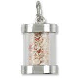 Sterling Silver Bermuda Is Sand Capsule Charm by Rembrandt Charms