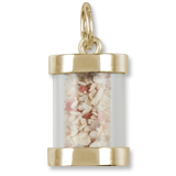 14K Gold Bahamas Sand Capsule Charm by Rembrandt Charms