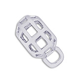 14K White Gold Caged CharmDrop by Rembrandt Charms