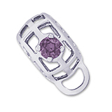 14K White Gold Caged Stone CharmDrop 06 June by Rembrandt Charms