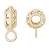 14K Gold Rippled Cage CharmDrop by Rembrandt Charms