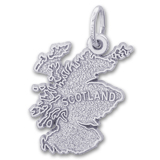 Sterling Silver Scotland Map Charm by Rembrandt Charms