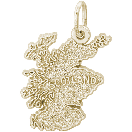 14K Gold Scotland Map Charm by Rembrandt Charms
