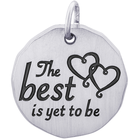 Sterling Silver The Best Is Yet To Be Charm Tag