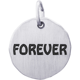 Sterling Silver Forever Charm Tag by Rembrandt Charms