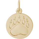 10K Gold Bear Paw Print Charm by Rembrandt Charms