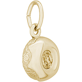 14K Gold Glazed Donut Charm by Rembrandt Charms