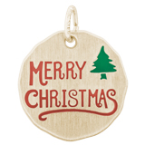 10K Gold Merry Christmas Charm Tag by Rembrandt Charms