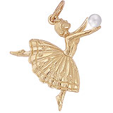 10K Gold Ballet Dancer Charm by Rembrandt Charms