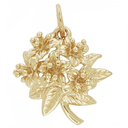 14K Gold Azalea Flower Charm by Rembrandt Charms