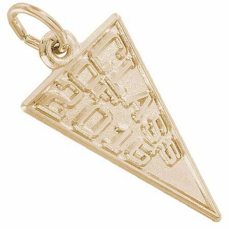 14k Gold Class of 2016 Charm by Rembrandt Charms